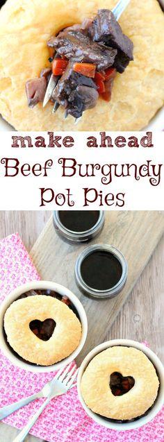 Make Ahead Beef Burgundy Pot Pies by Foodtastic Mom (AD)