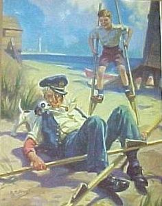 "Hy Hintermeister ~ ""Grandpa On Stilts With Billy"""