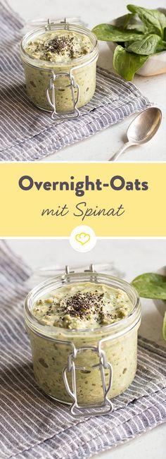 Grüne Overnight Oats mit Spin at Flaxseed Oil Benefits, Flax Seed Benefits, Flaxseed Gel, Flax Seed Recipes, Natural Yogurt, Breakfast Time, Vegan Breakfast, Dessert For Dinner, Low Carb