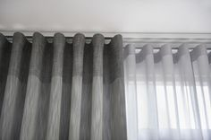Best Inspiration Minimalist Home Curtains for Beautiful Residential Lounge Curtains, Wave Curtains, Ceiling Curtains, Curtain Rails, Double Rod Curtains, Modern Curtains, Curtains Living, Grey Curtains, Grommet Curtains