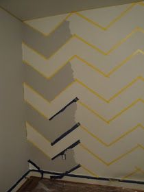 Olivia Grayson Interiors: How To Paint a Chevron Wall