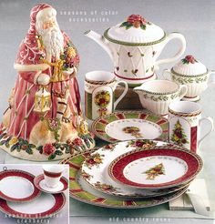 Royal Albert: Seasons of Color, and Cranberry accents.