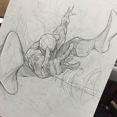 Spider-Man sketch by Vince Sunico at Calgary Expo Spiderman Sketches, Comics Spiderman, Spiderman Drawing, Marvel Drawings, Marvel Comics Art, Marvel Comic Universe, Cartoon Drawings, Cool Drawings, Drawing Sketches