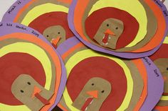 Circle Turkeys kindergarten