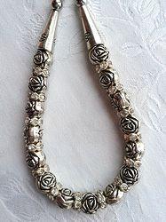 Online at Treasures to Treasure Rose Cluster Necklace Cluster Necklace, Jewels, Rose, Bracelets, Silver, Pink, Jewerly, Roses, Bracelet