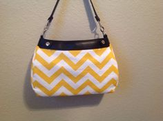 Sunny yellow and white chevron slub SUITE by ShellyJayneCovers, $18.75