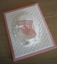 KeepStamping: Stitched Stocking Stamp Set & Stocking Tag Punch baby booties