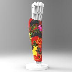 Le Cover est recouvert d'un film en vinyle au motif floral, dessin fait main. Un style raffiné et chic !