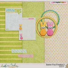 Quality DigiScrap Freebies: Easter Fun tiny kit freebie from Southern Creek Designs