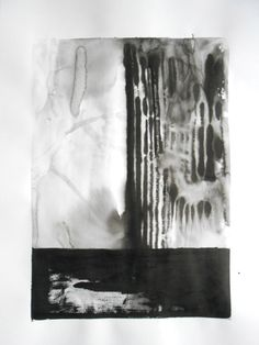 A2 Modern Abstract Black and White Ink Wash Painting by Manjuzaka, €54.00