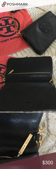 Brand New Tory Burch purse Brand new Tory Burch black shoulder bag/clutch. Gorgeous leather with inside magnetic closure. Comes with Tory Burch dust bag. The strap is removable and can be carried as a clutch. Same day shipping. Along with a little extra goodie😉 Tory Burch Bags Clutches & Wristlets