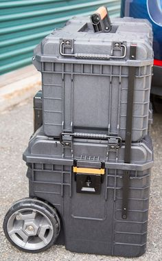 Ridgid Pro Tool Box and Cart Stacked