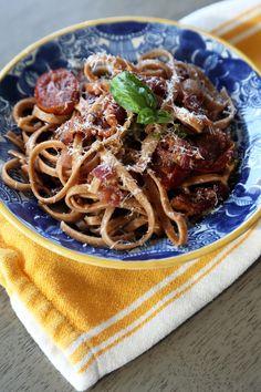 Bacon and Tomato Pasta Recipe | POPSUGAR Food