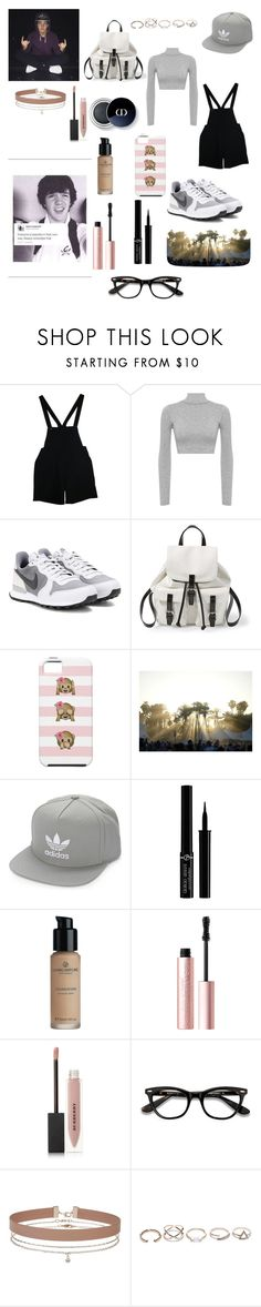 """Aaron Carpenter"" by trinadee-rogers ❤ liked on Polyvore featuring American Apparel, WearAll, NIKE, Steve Madden, adidas Originals, Giorgio Armani, Too Faced Cosmetics, Burberry, Miss Selfridge and GUESS"