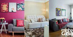 Três salas, três estilos