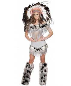 Women's 3pc Lusty Indian Maiden Costume