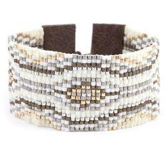 Cream Mix Beaded Cuff Bracelet - Chan Luu