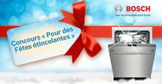 Participez pour GAGNER l'un des 4 lave-vaisselle Bosch.https://www.facebook.com/boschcdn/app_802800929781530