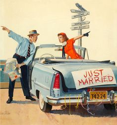 And so it begins! :D #vintage #couple #1950s #cari could change the sign to Weymouth, braintree, you name it.