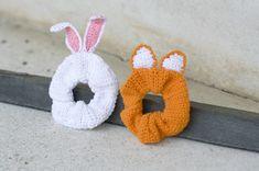 Virkattu pupudonitsi ja kettudonitsi – katso helppo ohje! - Kotiliesi.fi Crochet Bunny, Knit Crochet, Hair Bows, Diy And Crafts, Baby Shoes, Knitting, Mini, Crocheting, Inspiration
