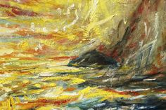 Up close Ailsa Craig, from Turnberry painting. Scotland, 2014 http://www.turnberryresort.co.uk