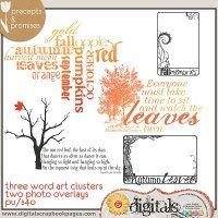 Fall Word Art [garrb-fallwordart] - Great frames and word art