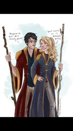 Why is Percy is Gryfindor robes instead of Hufflepuff robes?