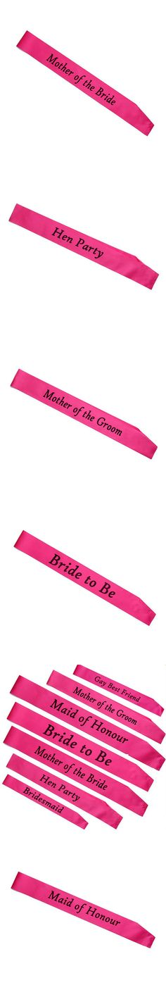 2017 New arrival 1pc bachelorette party accessories Hen Night Stain Sashes Hen Party and Bride to Be for bride party supplies