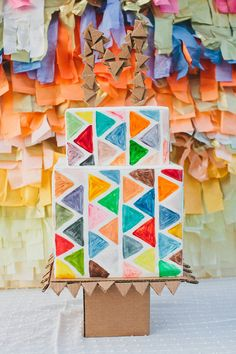 Quirky geometric wedding cake #geometric #cake #winsome #colorful