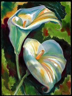 Edward Holmberg - Painter of Flowers - Lilies