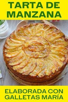 Tarta de manzana fácil - El pastel más delicioso ¡Qué rica torta! Healthy Fast Food Breakfast, Profiteroles, Cake Shop, Cupcake Cookies, Apple Pie, Bakery, Deserts, Banana Bread, Food And Drink