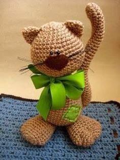 Trendy Ideas For Crochet Cat Amigurumi Free English Chat Crochet, Crochet Amigurumi Free Patterns, Knit Or Crochet, Crochet Crafts, Crochet Dolls, Crochet Baby, Free Crochet, Diy Crafts, Yarn Projects