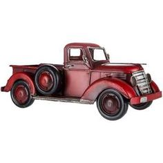 (Tabletop) Red Metal Truck - $29.99
