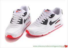 wholesale dealer b144d 13ece meilleures chaussures de running Hommes 652980-100 Leather Blanc Noir Rouge  université Nike
