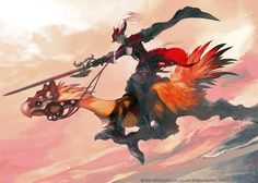 Red Mage Illustration from Final Fantasy XIV: Stormblood