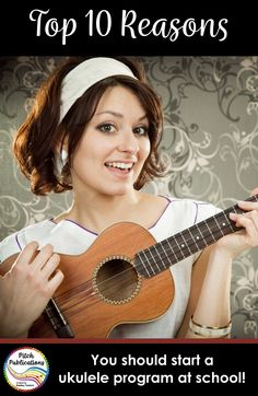 """n Your School""""alt=""""Top Ten Reasons""""/></br></br>These are ten reasons to start an ukulele program at school! This will tell you why to teach ukulele - use in grants and to convince administration! Music Lesson Plans, Music Lessons, Music Education Activities, Teacher Resources, Music Classroom, Music Teachers, Classroom Ideas, School Programs, Teaching Music"""