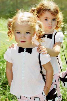 I just adore little girls in pigtails. So cute! Precious Children, Beautiful Children, Beautiful Babies, Fashion Kids, Fashion Clothes, Cute Kids, Cute Babies, Kind Photo, Little Fashionista