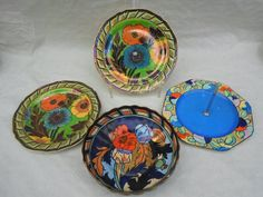 A Wood & Sons Bursley Ware bowl, designed by Charlotte Rhead in the 1550 pattern, having a The Saleroom, 1920s, Poppies, Sons, Tube, Decorative Plates, Charlotte, September, Auction