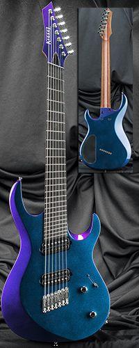Kiesel Guitars AM7 24 Fret Multiscale Fanned-Fret Bolt-On Neck 7-String Guitar…