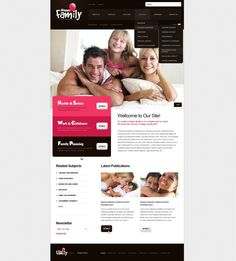 Happy Family Website Templates by Elza Family Website, Web Design Software, Joomla Templates, Family Planning, Website Themes, Health And Safety, Design Bundles, Childcare, Portfolio Design