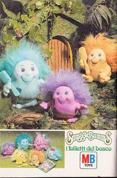 I folletti del bosco. Mai avuti, ma mi è sempre piaciuta la forma e il colore.