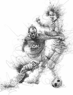 Vince Low- Malasiya World Cup 2014 on Behance Art Football, Soccer Art, Ap Studio Art, Drawing Sketches, Pencil Drawings, Art Drawings, Art And Illustration, Vince Low, Stylo Art