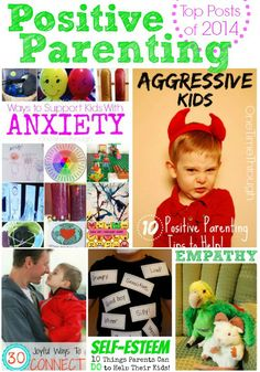 Top Positive Parenting Posts of 2014! Find our 5 most shared/read/pinned parenting posts all in one spot! Tips for helping AGGRESSIVE kids, kids with ANXIETY, boosting your child's SELF-ESTEEM, teaching your child to EMPATHIZE, and ways to CONNECT with your kids! {One Time Through} #parenting