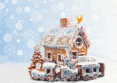 Variedade de biscoitos de Natal de pão de mel foto royalty-free