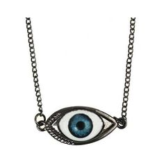 Black Look Evil Eye Necklace ($12) ❤ liked on Polyvore