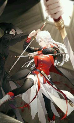 High-rated fantasy books on Cool Anime Girl, Pretty Anime Girl, Beautiful Anime Girl, Anime Art Girl, Manga Girl, Chica Anime Manga, Kawaii Anime, Anime Warrior, Warrior Girl