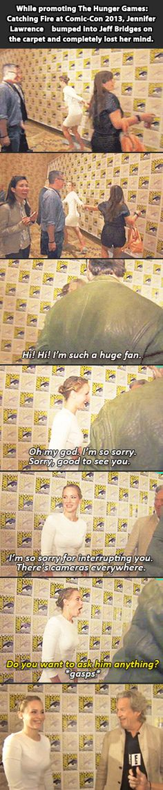 Jennifer Lawrence being Jennifer Lawrence…