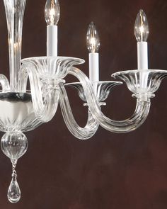 Venetian glass chandeliers from Murano, Italy; Venetian Glass, Murano Glass, Glass Chandelier, Chandeliers, Inviting Home, Traditional Lighting, Glass Art, Italy, Ceiling Lights