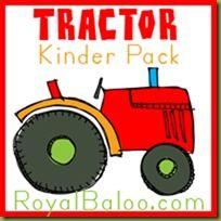 Free Kindergarten Tractor Printable Pack