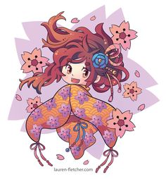 Waicon 2014 VIP Bag Design Watami By Lauren Fletcher Character Design I Digital Art I 2D I Illustration I Manga